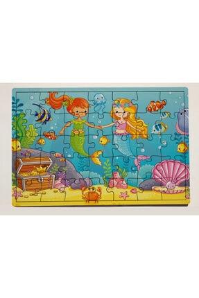 meyuhome Deniz Kızları 35 Parça Ahşap Puzzle Yapboz