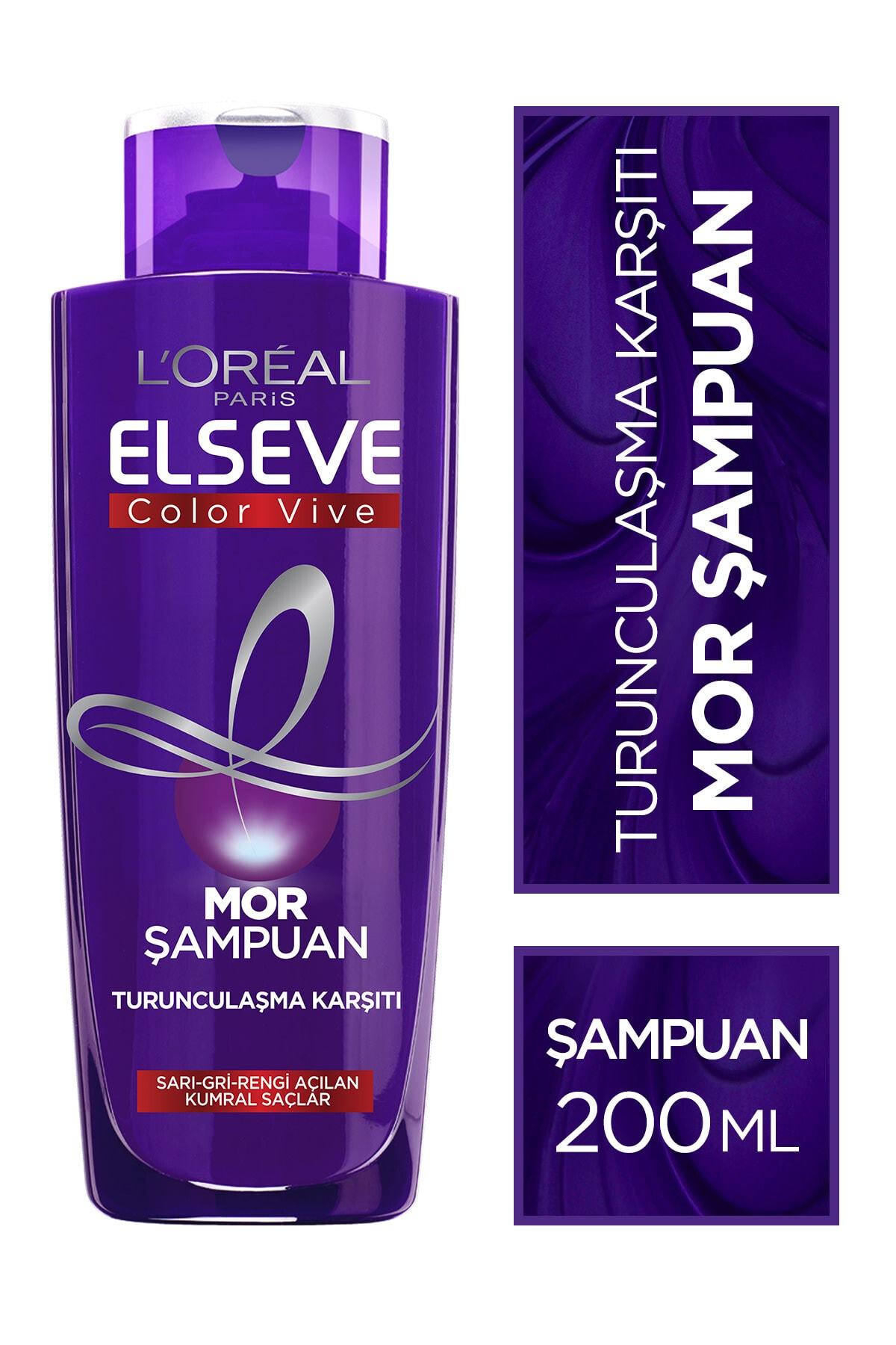 ELSEVE L'oréal Paris Elseve Turunculaşma Karşıtı Mor Şampuan 200ml 1