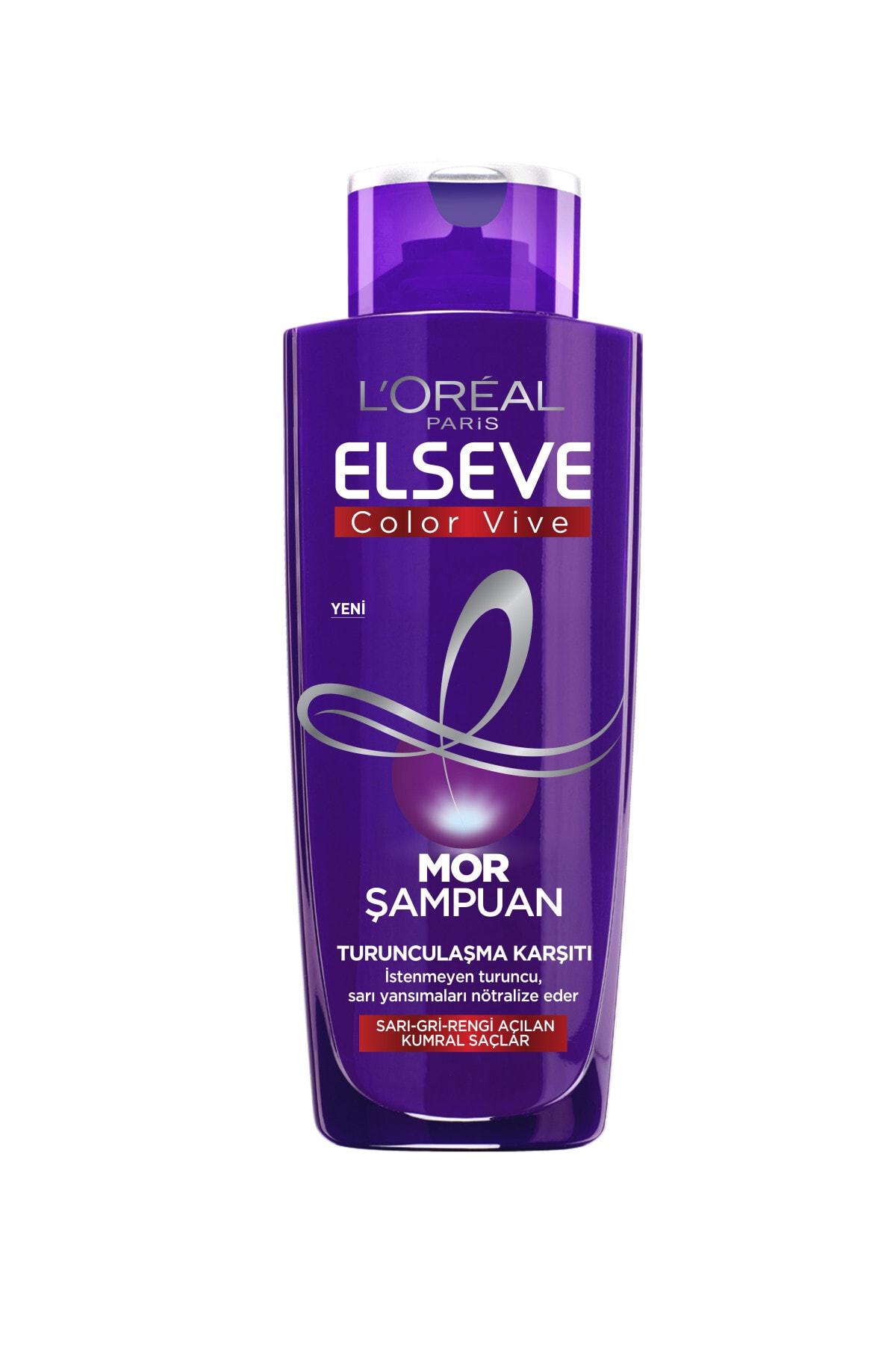 ELSEVE L'oréal Paris Elseve Turunculaşma Karşıtı Mor Şampuan 200ml 2