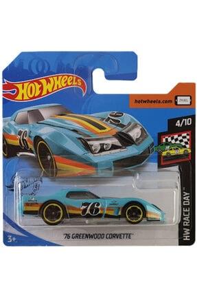 HOT WHEELS Tekli Arabaları 76 Greenwood Corvette Oyuncaklar Ghg11