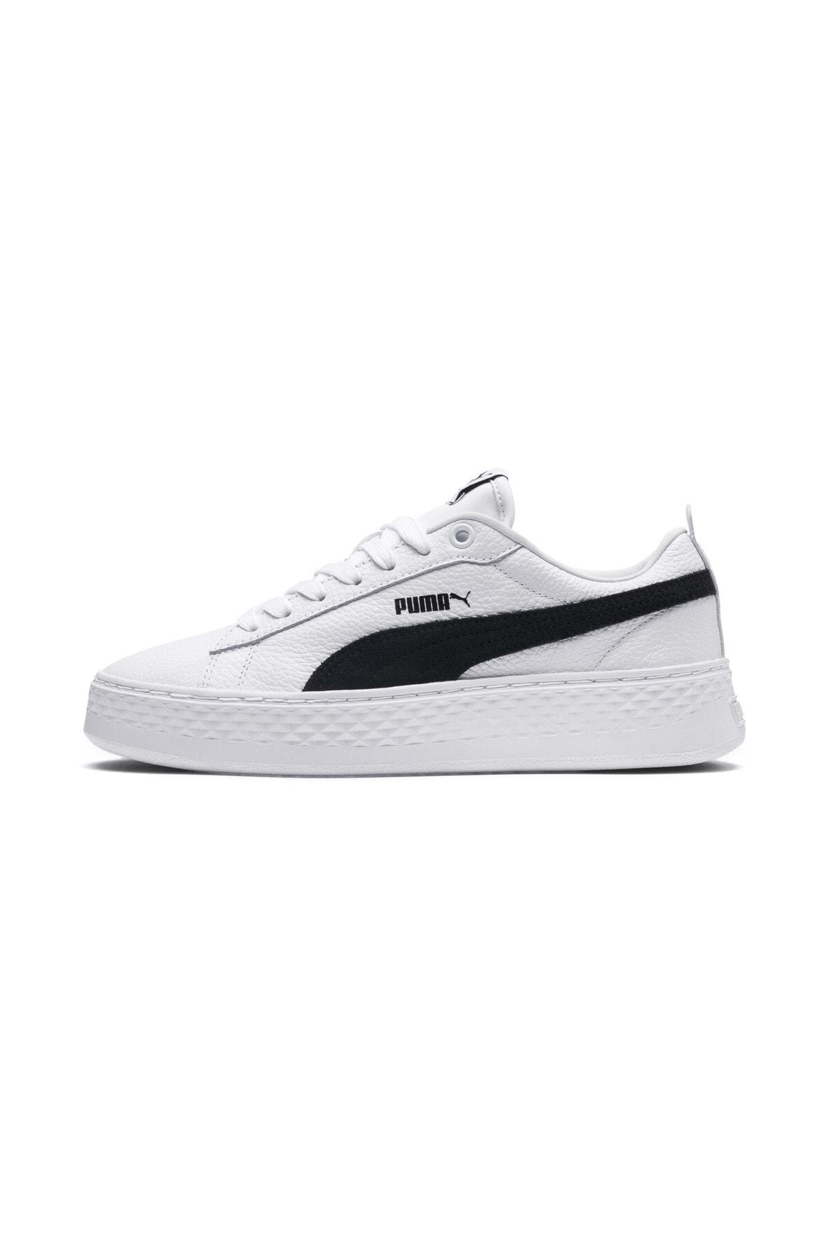 Puma SMASH PLATFORM L Beyaz Kadın Sneaker Ayakkabı 101119221