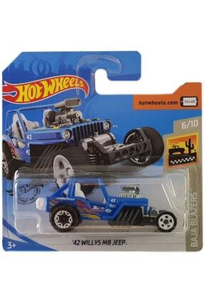 HOT WHEELS Tekli Arabaları 42 Willys Mb Jeep Oyuncakları Ghb87
