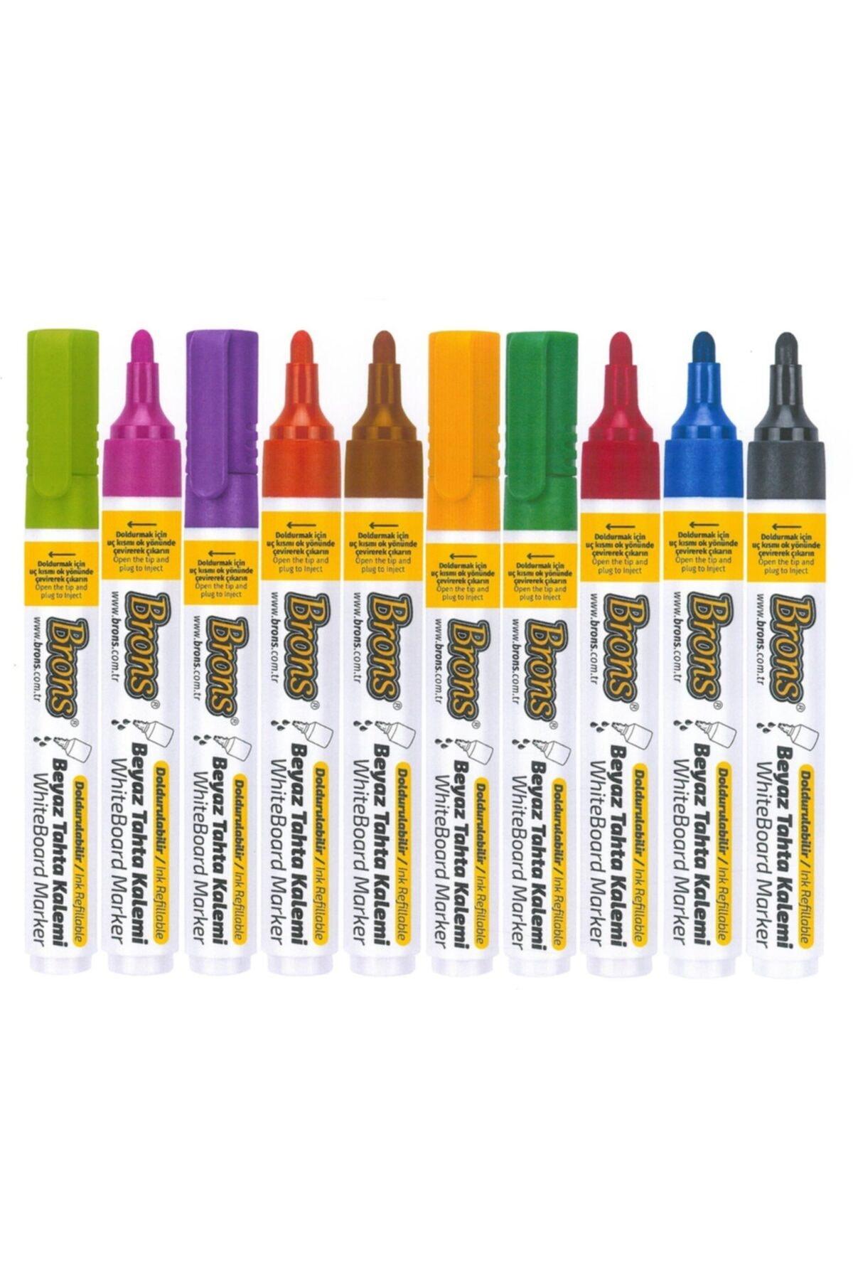 Brons Tahta Kaemi Doldurulabilen 10 Farklı Renk Ve Tahta Silgisi 1