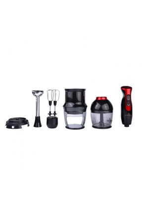 Karaca 4 in 1 Black Red Blendfit Blender Set