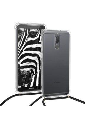 TEKNOMODA Huawei Mate 10 Lite Şeffaf Boyun - Omuz Askılı Ipli Kordonlu Kılıf