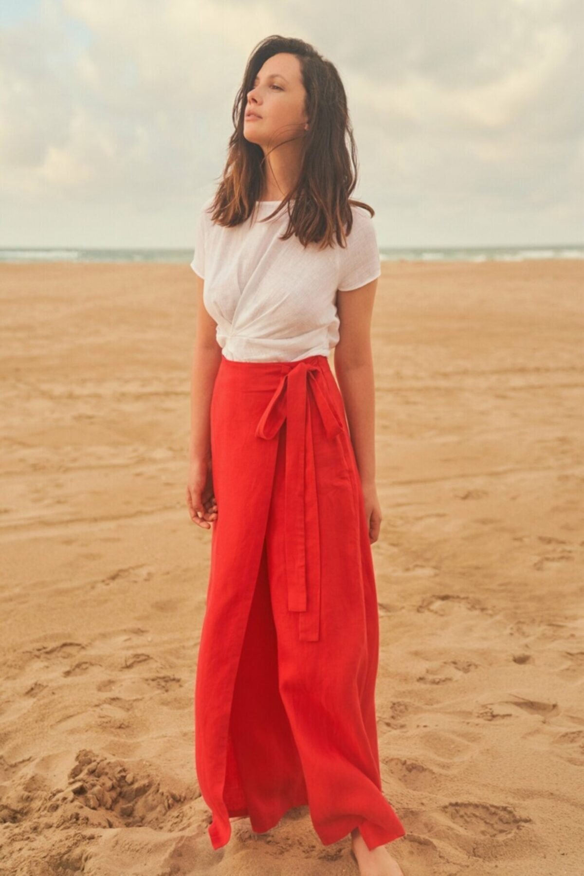 adL Kadın Kırmızı Bol Paça Pantolon 2