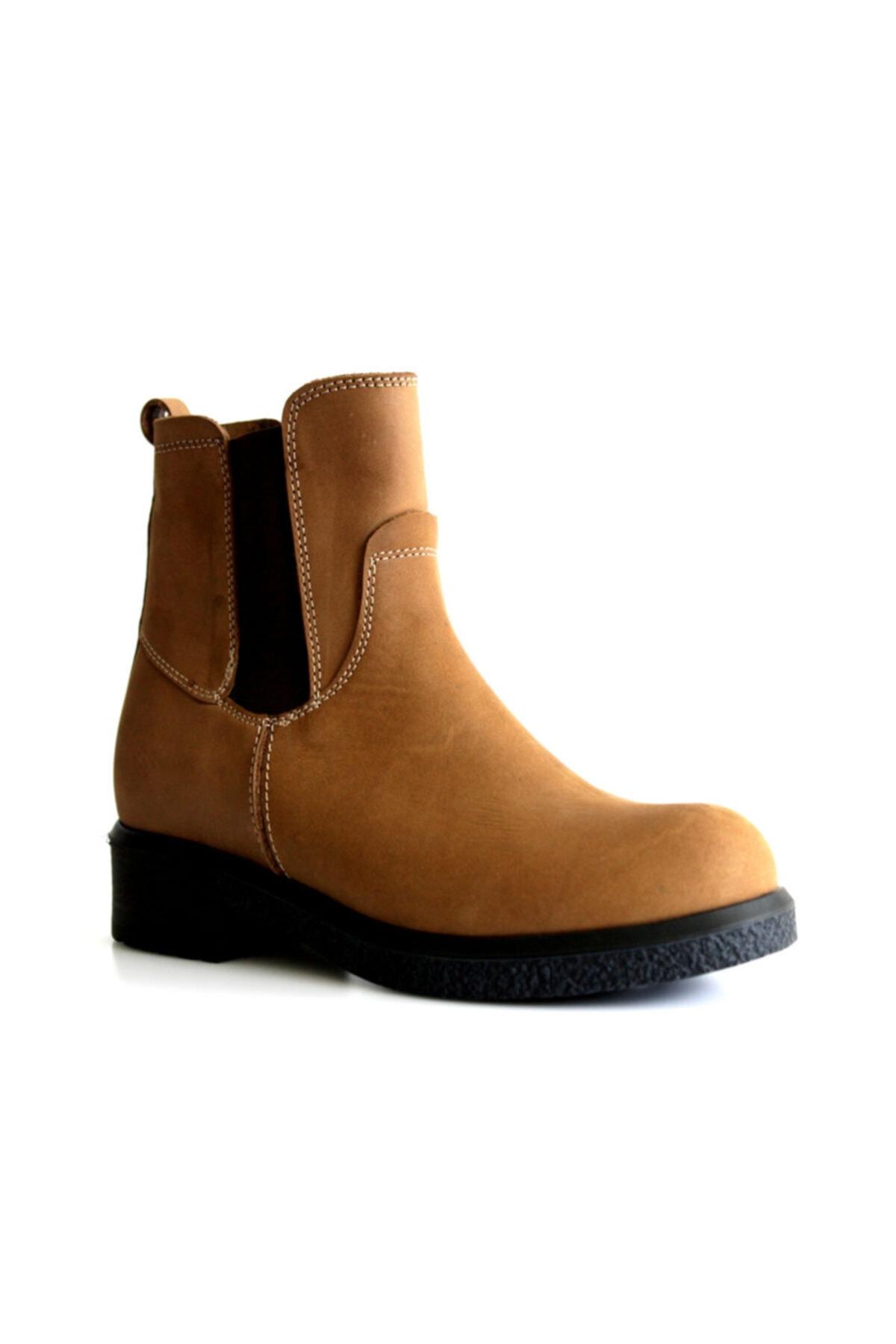Beta Shoes Bot Hakiki Deri Kadın Taba 1