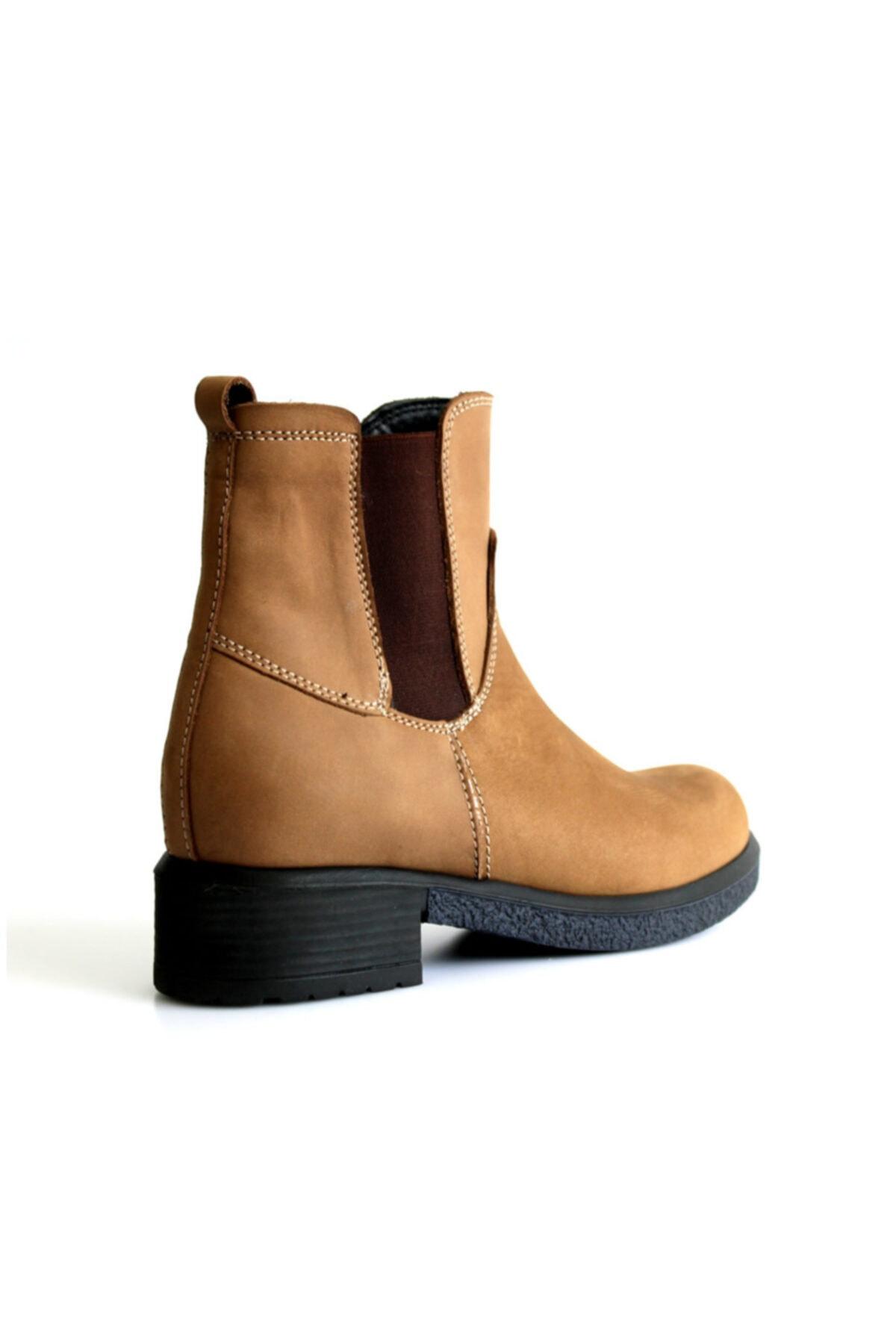 Beta Shoes Bot Hakiki Deri Kadın Taba 2