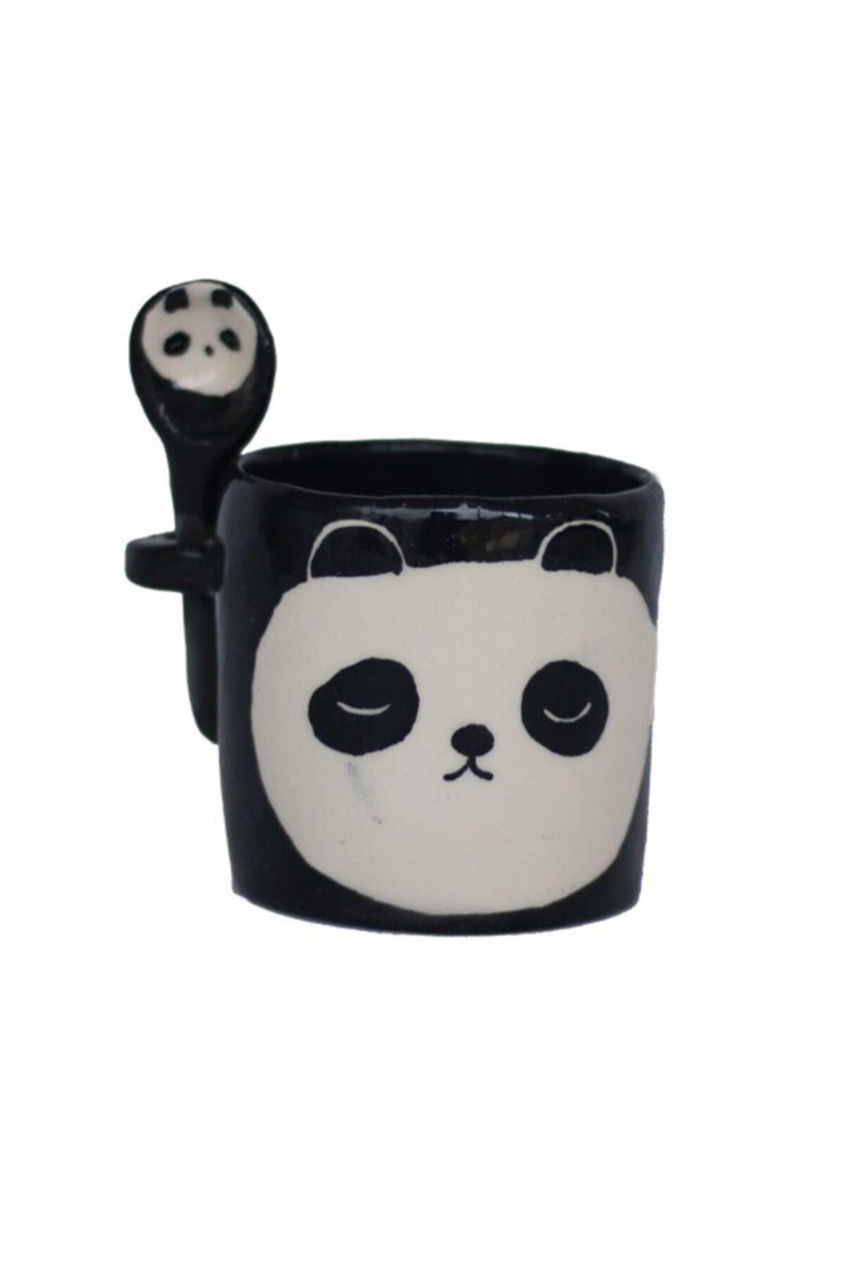 8GEN Lacivert El Yapımı Seramik Panda Bardak 1