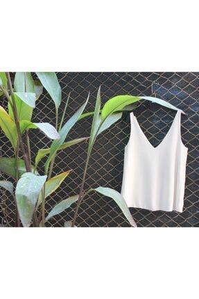 NK Kadın Beyaz Askılı Bluz