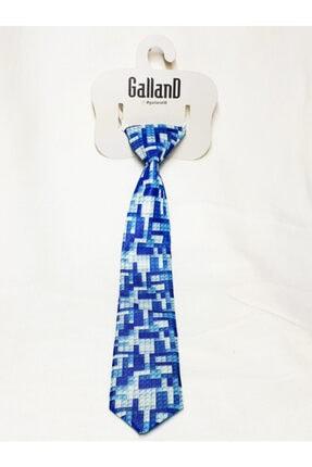 GallanD Erkek Mavi Çocuk Dijital Baskılı Kravat