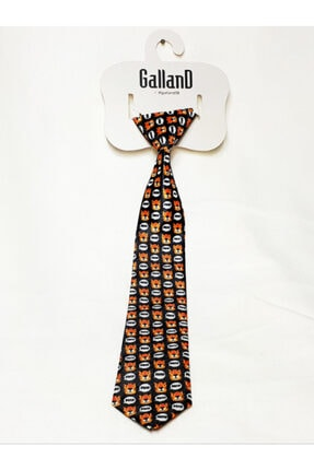 GallanD Erkek Çocuk Lacivert Desenli Dijital Baskı Kravat