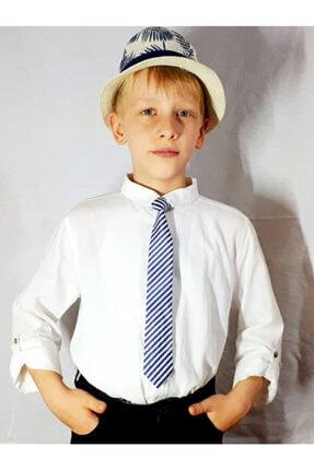 GallanD Erkek Çocuk Lacivert Dijital Baskı Kravat