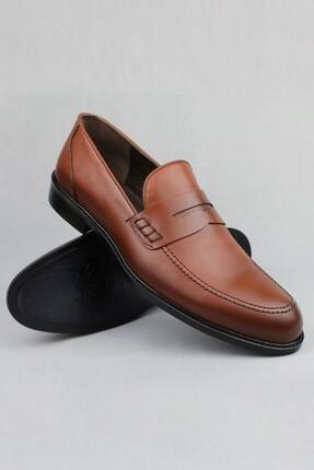 CZ London Erkek Kahverengi Hakiki Deri Klasik Ayakkabı Loafer