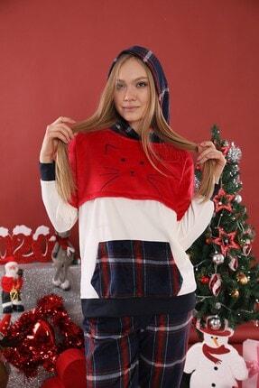Lohusa Sepeti Kadın Kırmızı Ekoseli Pijama Takımı