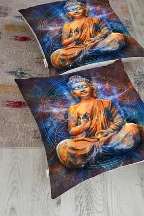 Realhomes Modern Buda Heykeli Motifli Yer Minderi