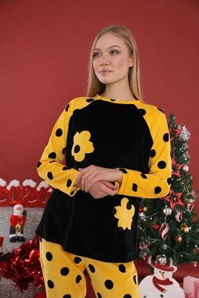 Lohusa Sepeti Kadın Sarı Dalton Pijama Takımı