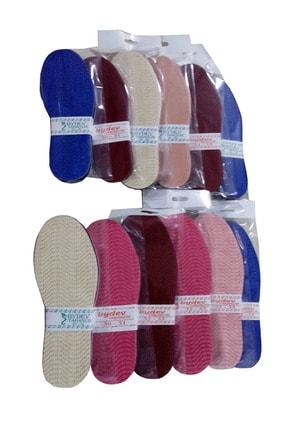devhome Örgü Patik Tabanlığı 30-31-32-33-34-35 No 12 Adet Karışık Renkli Paket