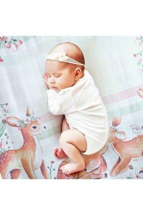 NİLUE BABY&MOM Nilue %100 Organik Pamuk Bambi Müslin Örtü - Gots Sertifikalı-
