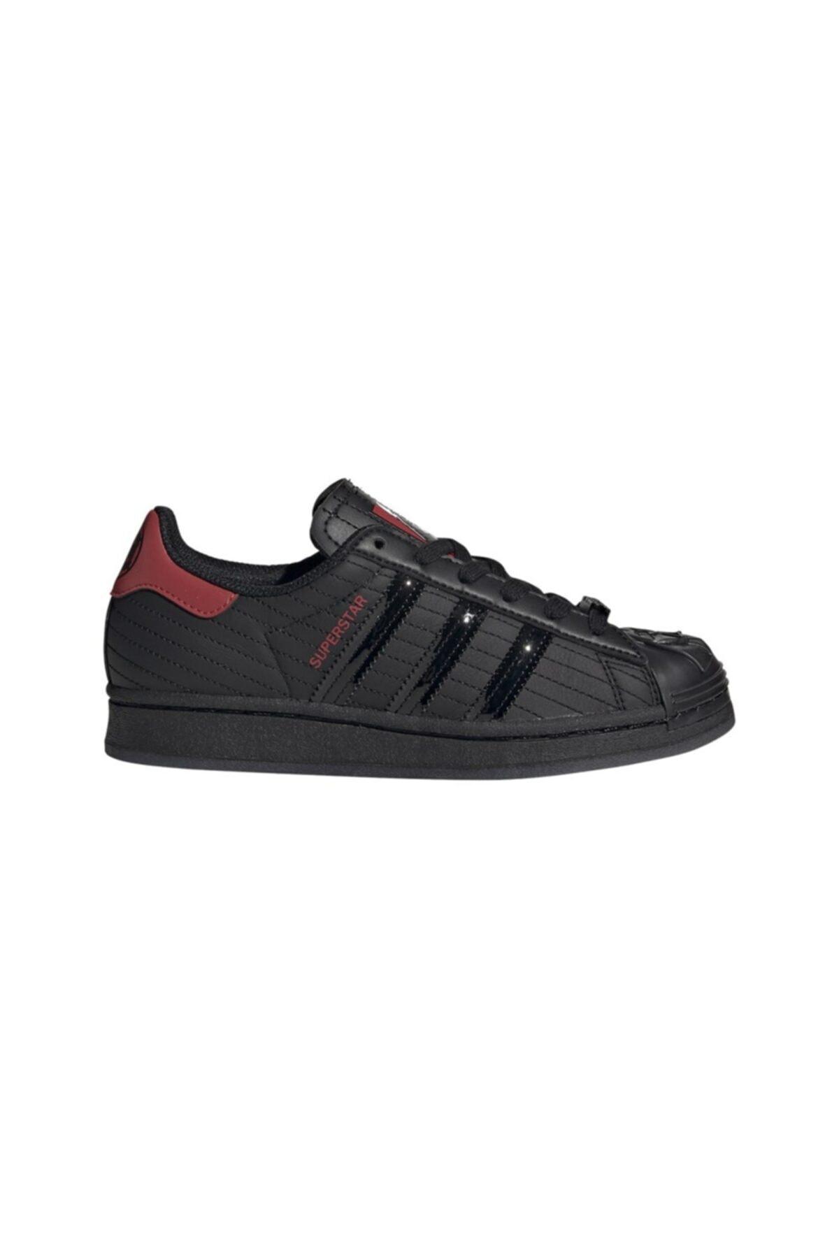 adidas Kadın Siyah Superstar J Günlük Spor Ayakkabı 1