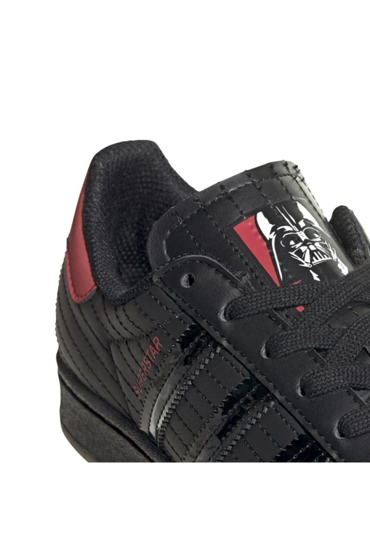 adidas Kadın Siyah Superstar J Günlük Spor Ayakkabı 2