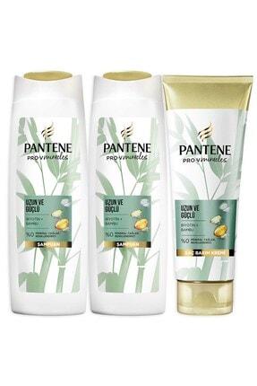 Pantene Uzun Güçlü Bambu Ve Biotinli Saç Bakım Seti Şampuan 2x 400 ml + Saç Kremi 275 ml