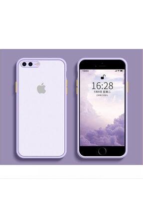 Kılıfsiparis Iphone 7 Plus / 8 Plus Kamera Korumalı Silikon Lila Kılıf