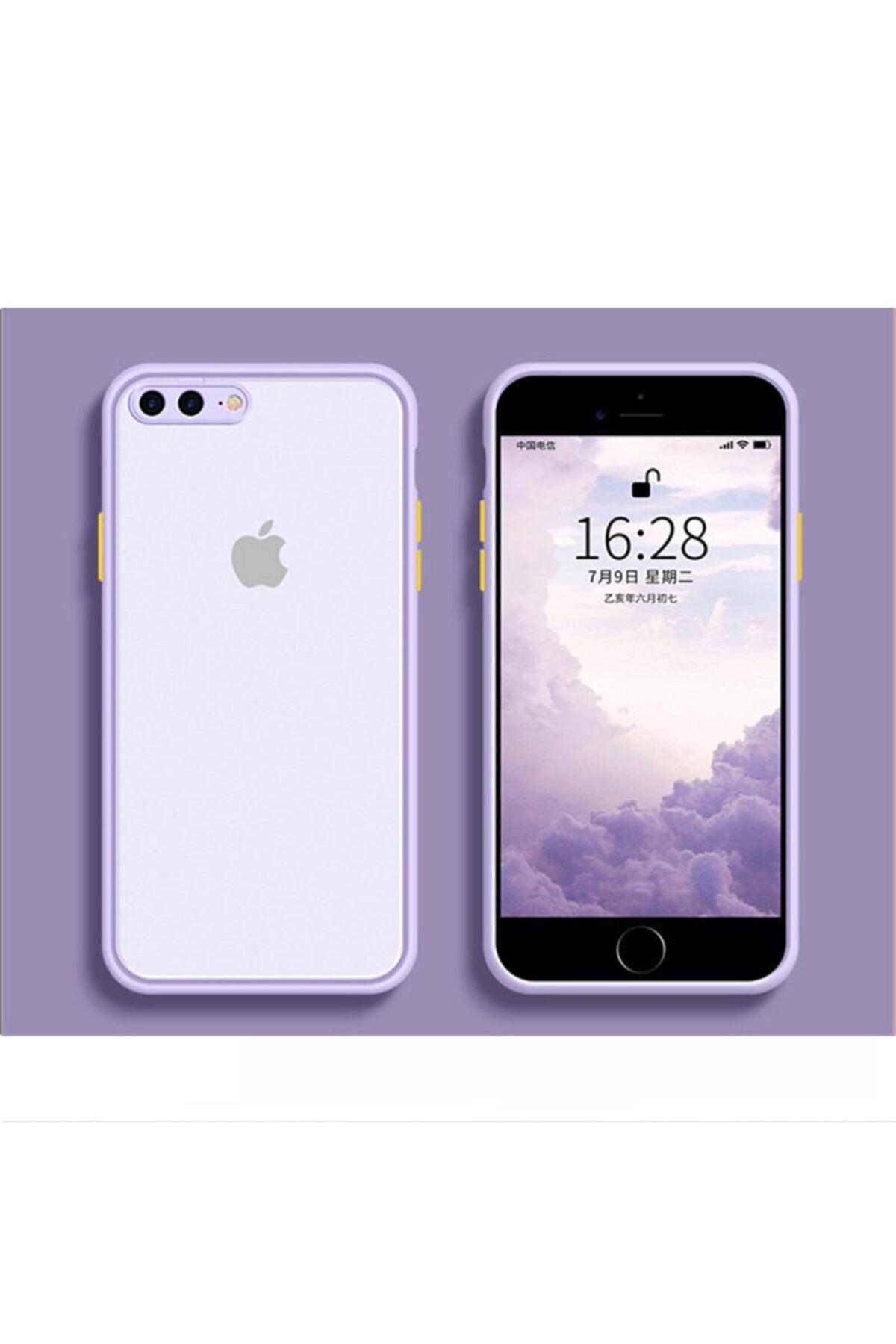 Kılıfsiparis Iphone 7 Plus / 8 Plus Kamera Korumalı Silikon Lila Kılıf 1