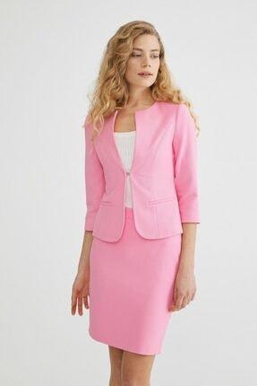 adL Kadın Pembe Agraflı Ceket