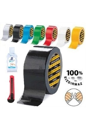 Sgs Siyah Suya Dayanıklı Flex Tape Tamir Bandı Çadır Bant 48x10 Mt + Maket Bıçağı + Jel