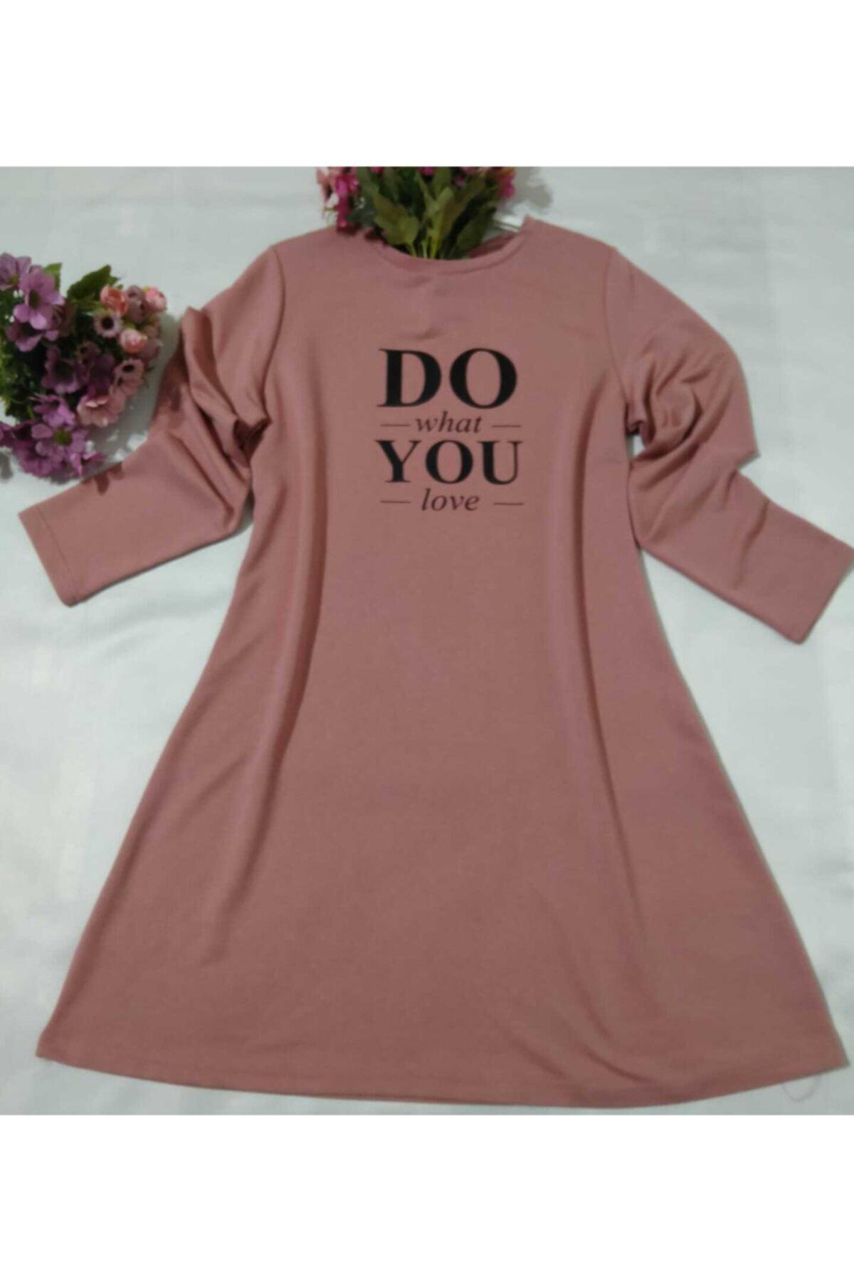 MİSS MODA Kadın Pembe  Iki Ip Sweatshirt 2