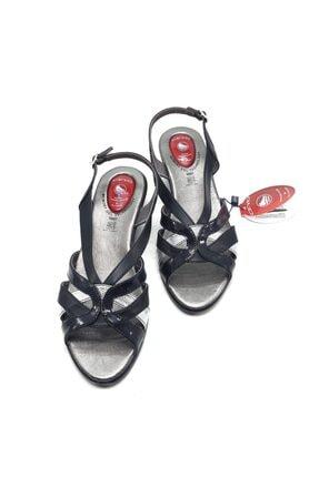 Ceyo Kadın Siyah Jel Sistem Sandalet 9887-19