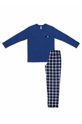 SUWEN Erkek Mavi Blue Shade Pijama Takımı