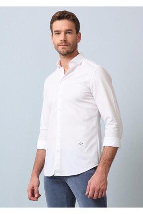 Ramsey Erkek Çizgili Dokuma Uzun Kollu Gömlek