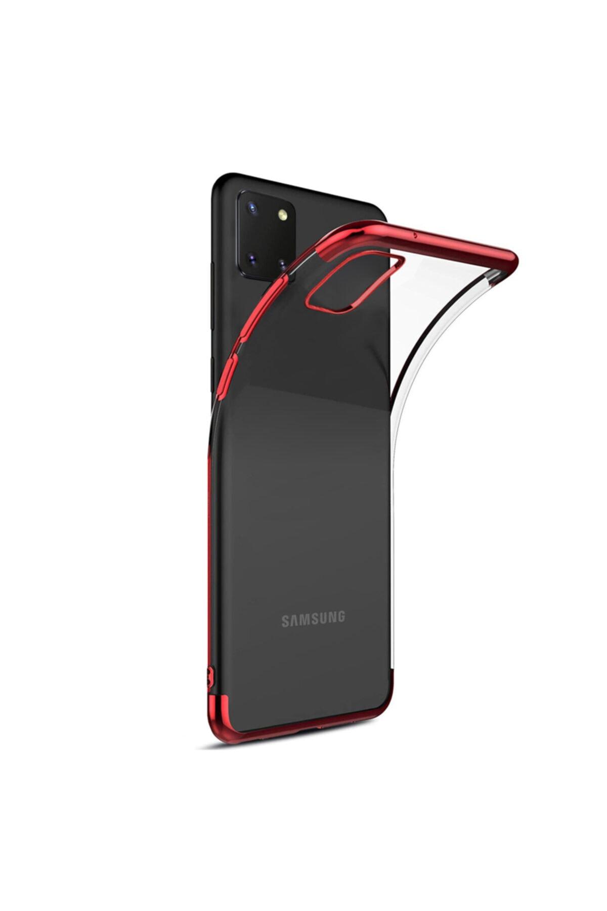 Microsonic Microsonic Galaxy Note 10 Lite Kılıf Skyfall Transparent Clear Kırmızı 2
