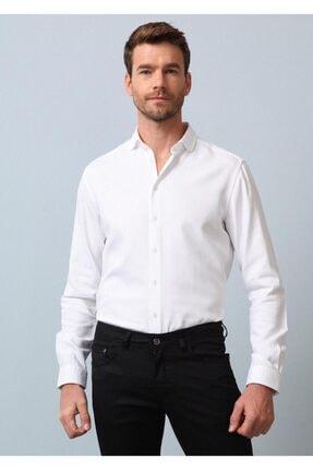 Ramsey Erkek Beyaz Dokuma Uzun Kollu Gömlek
