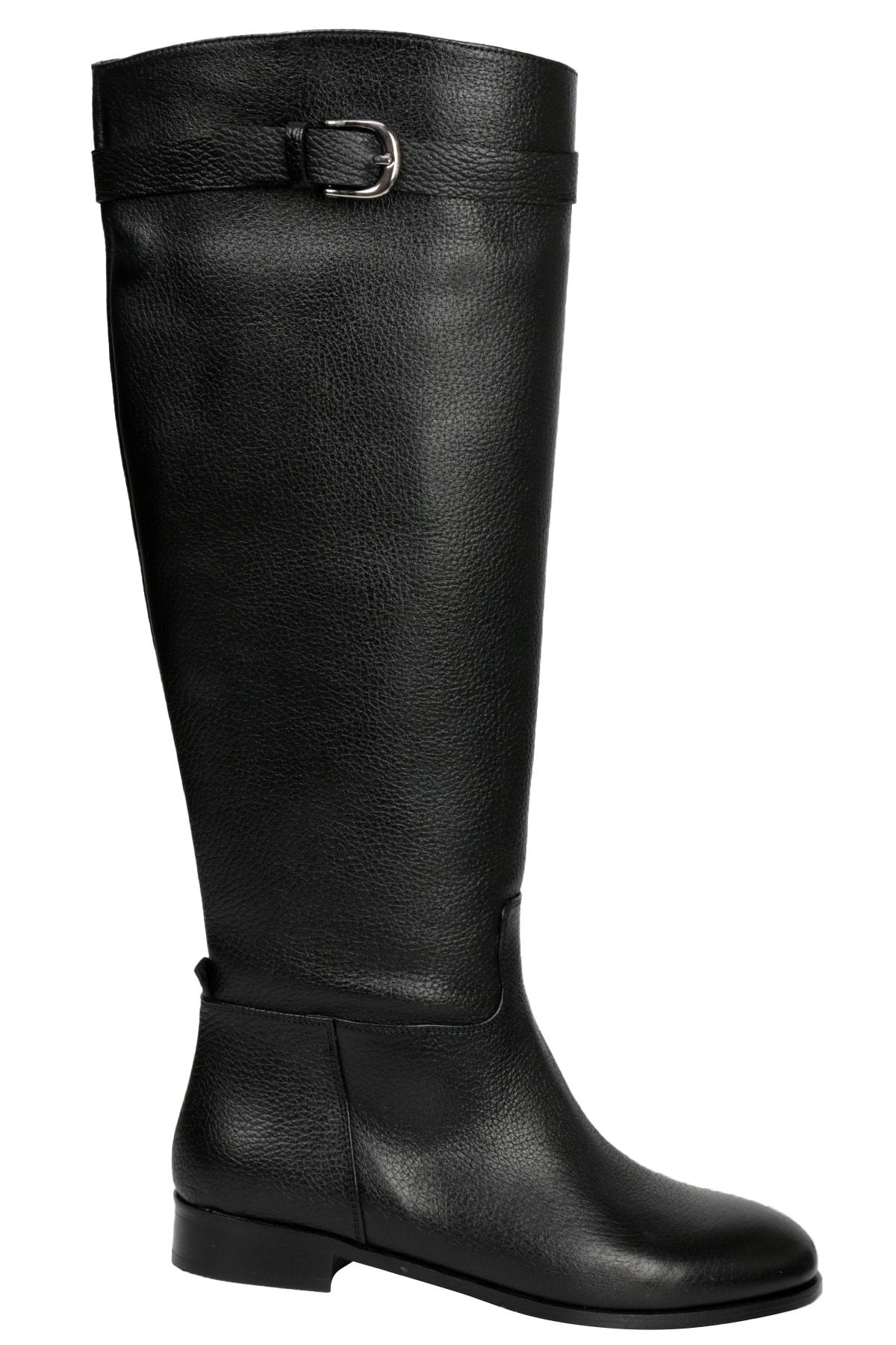 OZ DOROTHY Kadın Siyah Flotur Deri Çizme 1