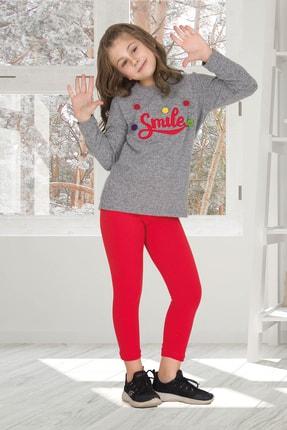 Penyelux Kız Çocuk Gri Pijama Takımı