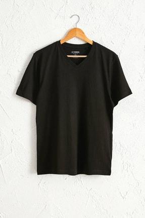 LC Waikiki Erkek Yeni Siyah Tişört 0W6611Z8