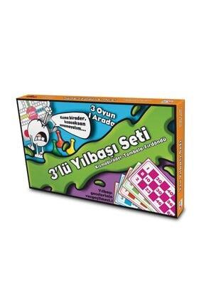 Ks Puzzle Yılbaşı Seti 3lü Eğlenceli Oyunlar Tombala Kızmabirader Fırdöndü