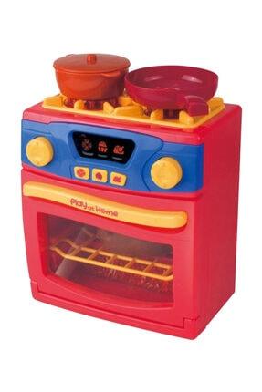 Sole Play At Home- Işıklı Sesli Fonksiyonlu Ocaklı Oyuncak Fırın Set