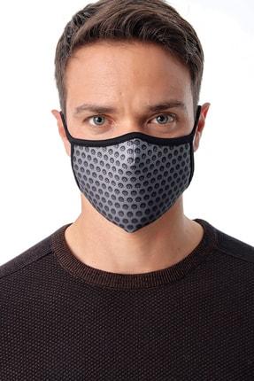 Melantis Medikal Unisex Karbon Baskı Yıkanabilir Kumaş Bez Maske