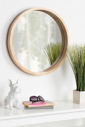 bluecape Doğal Ağaç Masif 45cm Çerçeveli Antre Koridor Duvar Salon Mutfak Banyo Ofis Çocuk Yatak Odası Ayna