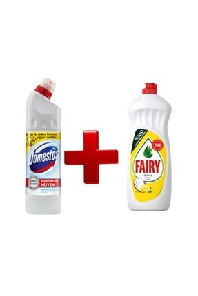 Fairy Domestos Ultra Yoğun 750 ml ve Bulaşık Detarjanı 750 ml