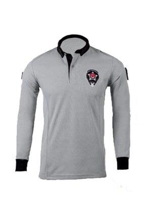 LEADER TRADE Unisex Özel Güvenlik Tişörtü Yeni Model Gri Renk