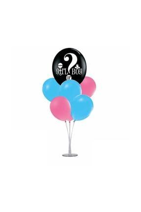 Pink Party Concept Cinsiyet Belirleme Balon Ve Balon Standı Seti