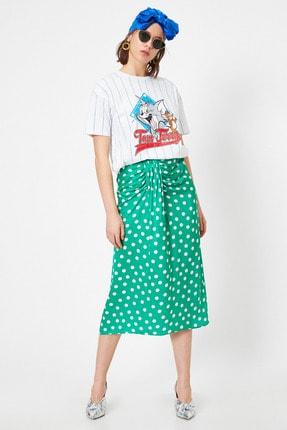Koton Kadın Yeşil Desenli Etek 0YAK73978EW