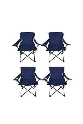 Ege Lacivert 4 Adet Çantalı Kamp Sandalyesi
