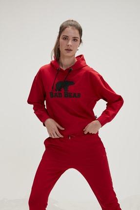 Bad Bear Kadın Kırmızı Crop Crımsonred Sweatshirt