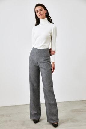 TRENDYOLMİLLA Lacivert Yüksek Bel Pantolon TWOAW21PL0671